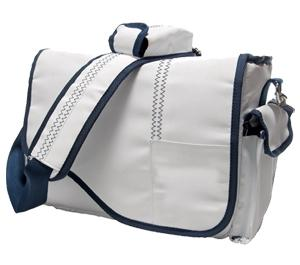 Jill-e Sailcloth Digital SLR Camera Messenger Bag (White)
