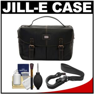 Jill-e Jack Day Trip DSLR Camera Bag (Brown) with Camera Strap + Accessory Kit