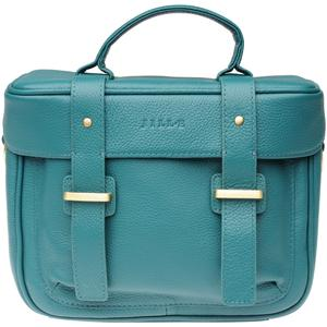 Jill-e Juliette All Leather DSLR Camera Bag - Teal -