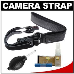 Joby UltraFit Sling Camera Strap for Women - Charcoal - with Nikon Cleaning Kit for Nikon 1 V2 J1 J3 D3100 D3200 D5200 D7100 D600 D800 D4