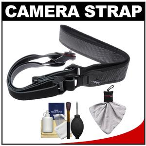 Joby UltraFit Sling Camera Strap for Women - Charcoal - with Kit for Sony Alpha A57 A58 A65 A77 A99 NEX-3N NEX-5N NEX-5R NEX-6 NEX-7