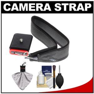 Joby 3-Way Shoulder-Neck-Wrist Camera Strap - Charcoal - with Kit for Sony Alpha A58 A65 A77 A3000 A5100 A6000 A7 II A7R A7S