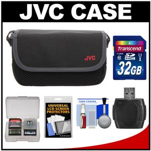 JVC CBV2013 Everio Video Camera Camcorder Case with 32GB Card + Raeder + Accessory Kit