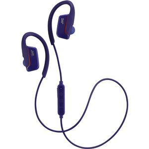 JVC HA-EC30BT Sports Inner Ear Wireless Bluetooth Headphones with Remote and Mic - Blue -
