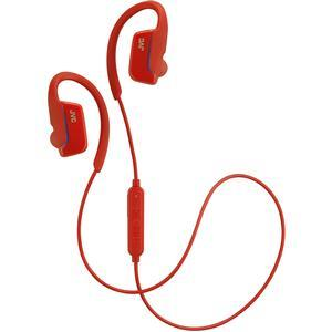 JVC HA-EC30BT Sports Inner Ear Wireless Bluetooth Headphones with Remote and Mic - Red -