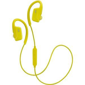 JVC HA-EC30BT Sports Inner Ear Wireless Bluetooth Headphones with Remote and Mic - Yellow -