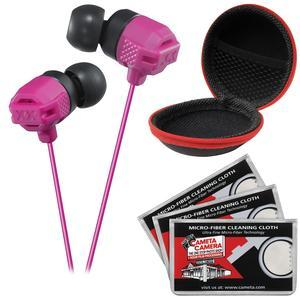 JVC HA-FX102 XTREME XPLOSIVES Inner Ear Headphones-Pink-with Case and 3 Microfiber Cloths