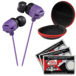 JVC HA-FX102 XTREME XPLOSIVES Inner Ear Headphones-Violet-with Case and 3 Microfiber Cloths