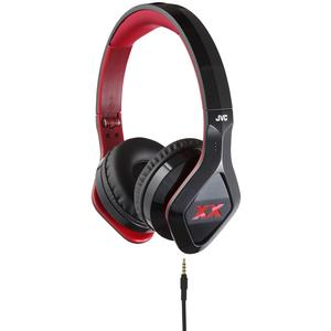 JVC HA-SR100X XX Elation Series On-Ear Headphones with Remote and Mic - Black -