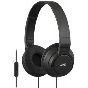 JVC HA-SR185 Lightweight Foldable Headphones with Remote - Black -