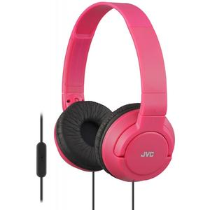 JVC HA-SR185 Lightweight Foldable Headphones with Remote - Red -