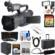JVC GY-HM170U Ultra 4K HD 4KCAM Professional Camcorder & Top Handle Audio Unit with XLR Microphone + 64GB Card + Battery + Hard Case + LED Video Light + HDMI Cable + Kit
