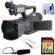 JVC GY-HM200U Ultra 4K HD 4KCAM Professional Camcorder & Top Handle Audio Unit with XLR Microphone + 64GB Card + Reader + Kit