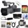 JVC GY-HM200U Ultra 4K HD 4KCAM Professional Camcorder & Top Handle Audio Unit with XLR Microphone + 64GB Card + LED Video Light + HDMI Cable + Reader + Kit