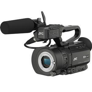 JVC GY-LS300CHU Ultra 4K HD 4KCAM Super 35 Pro Camcorder & Mic Top Handle Audio Unit