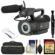 JVC GY-LS300CHU Ultra 4K HD 4KCAM Super 35 Pro Camcorder & Mic Top Handle Audio Unit with 128GB Card & Reader + Case + Kit