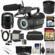 JVC GY-LS300CHU Ultra 4K HD 4KCAM Super 35 Pro Camcorder & Mic Top Handle Audio Unit with Panasonic 12-35mm f/2.8 II Lens + 64GB Card + Case + Video Light + Fisheye Lens Kit