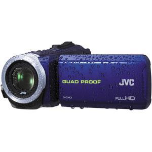 JVC Everio GZ-R10 Quad Proof Full HD Digital Video Camera Camcorder (Blue)
