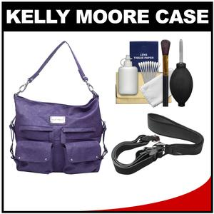 Kelly Moore 2 Sues Camera/Tablet Bag with Shoulder & Messenger Strap (Eggplant) with Camera Strap + Accessory Kit