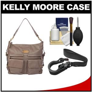 Kelly Moore 2 Sues Camera/Tablet Bag with Shoulder & Messenger Strap (Grey) with Camera Strap + Accessory Kit