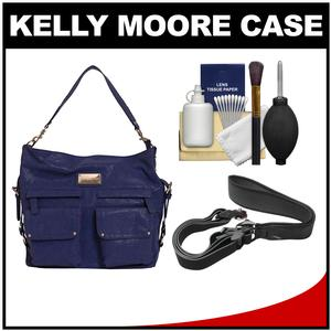 Kelly Moore 2 Sues Camera/Tablet Bag with Shoulder & Messenger Strap (Indigo) with Camera Strap + Accessory Kit