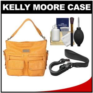 Kelly Moore 2 Sues Camera/Tablet Bag with Shoulder & Messenger Strap (Mustard) with Camera Strap + Accessory Kit