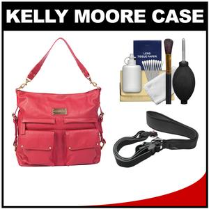 Kelly Moore 2 Sues Camera/Tablet Bag with Shoulder & Messenger Strap (Raspberry) with Camera Strap + Accessory Kit