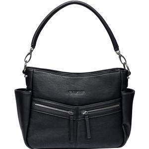 Kelly Moore Augusta Camera - Tablet Bag with Shoulder and Messenger Strap - Shadow Black - Includes Removable Padded Basket
