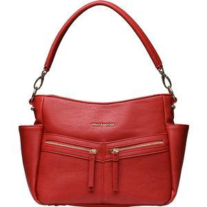 Kelly Moore Augusta Camera - Tablet Bag with Shoulder and Messenger Strap - Rose Red - Includes Removable Padded Basket