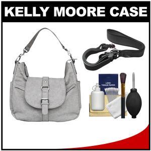 Kelly Moore B-Hobo Camera/Tablet Bag with Shoulder & Adjustable Messenger Strap (Grey) with Camera Strap + Accessory Kit