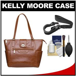 Kelly Moore Esther Camera/Tablet Bag with Shoulder Straps (Caramel) with Camera Strap + Accessory Kit