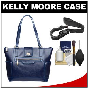 Kelly Moore Esther Camera/Tablet Bag with Shoulder Straps (Sapphire) with Camera Strap + Accessory Kit