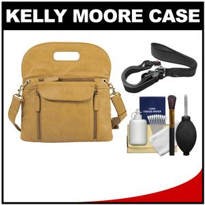 Kelly Moore Posey 2 Camera/Tablet Bag with Adjustable Messenger Strap (Mustard) with Camera Strap + Accessory Kit