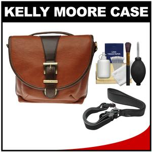 Kelly Moore Riva Camera Bag with Adjustable Messenger Strap & Shoulder Pad (Saddle) with Camera Strap + Accessory Kit