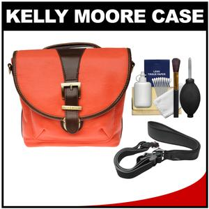Kelly Moore Riva Camera Bag with Adjustable Messenger Strap & Shoulder Pad (Tangerine) with Camera Strap + Accessory Kit
