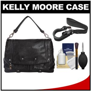 Kelly Moore Songbird Camera/Tablet Bag with Shoulder & Messenger Strap (Raven Black) with Camera Strap + Accessory Kit