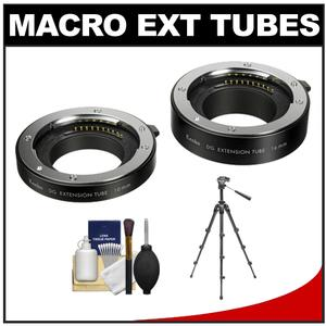 Kenko Macro Automatic Extension Tube Set DG for Sony NEX E-Mount with Tripod + Accessory Kit