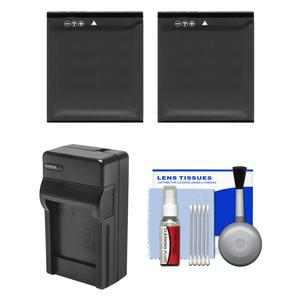 Essentials Bundle for Kodak PixPro SP360 SP360 4k and Orbit360 4K Action Camera with-2-LB-080 Batteries and Charger and Cleaning Kit