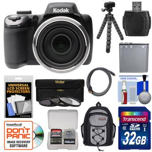 kodak pixpro az525 astro zoom wi fi digital camera with 32gb card battery backpack flex. Black Bedroom Furniture Sets. Home Design Ideas