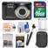 Kodak PixPro Friendly Zoom FZ53 Digital Camera (Black) with 16GB Card + Battery + Case + Selfie Stick + Kit