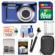 Kodak PixPro Friendly Zoom FZ53 Digital Camera (Blue) with 16GB Card + Battery + Case + Selfie Stick + Kit