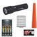 LED Lenser P7QC Rechargeable Flashlight with Case with Signal Cone + 4 AAA Rechargeable Batteries + Charger + Battery Case & Cleaning Cloth