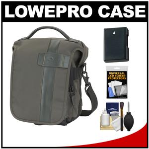 Lowepro Classified 140 AW Digital SLR Camera Bag/Case (Sepia) with EN-EL14 Battery + Accessory Kit for Nikon D3100 D3200 D5100 D5200 D5300
