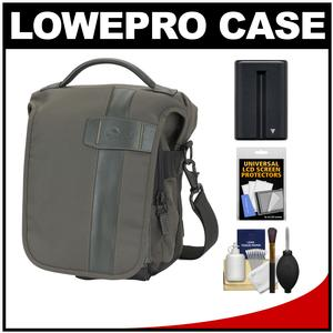 Lowepro Classified 140 AW Digital SLR Camera Bag/Case (Sepia) with NP-FM500H Battery + Accessory Kit for Sony Alpha DSLR SLT-A57 A58 A65 A77 A99