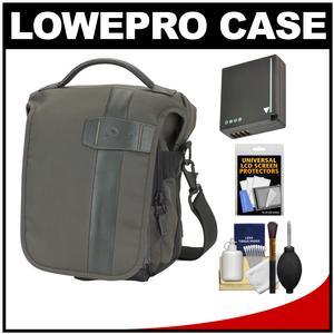 Lowepro Classified 140 AW Digital SLR Camera Bag/Case (Sepia) with DMW-BLG10 Battery + Accessory Kit for Panasonic DMC-GF6