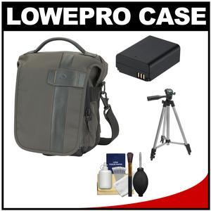 Lowepro Classified 140 AW Digital SLR Camera Bag/Case (Sepia) with BP1030/1130 Battery + Tripod + Accessory Kit for Samsung NX210 NX1100 NX2000 NX300