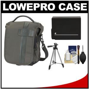Lowepro Classified 140 AW Digital SLR Camera Bag/Case (Sepia) with DMW-BLC12 Battery + Tripod + Accessory Kit for Panasonic DMC-G6