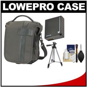 Lowepro Classified 140 AW Digital SLR Camera Bag/Case (Sepia) with DMW-BLG10 Battery + Tripod + Accessory Kit for Panasonic DMC-GF6 DMC-GX7