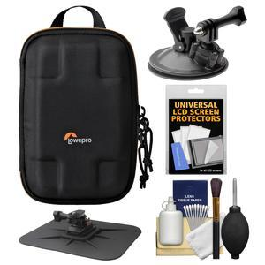 Lowepro Dashpoint AVC 60 II Action Video Camera Case with Car Suction Cup & Dashboard Mounts + Kit