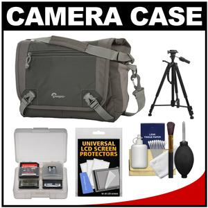 Lowepro Nova Sport 17L AW Digital SLR Camera Bag/Case (Slate Grey) with Tripod + Accessory Kit